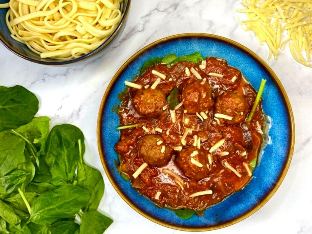 Beef Meatballs in a Tomato Sauce