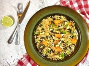 Chilli Lime Sweet Potato with Rice