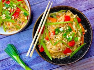 Nutty Peanut and Vegetable Noodles