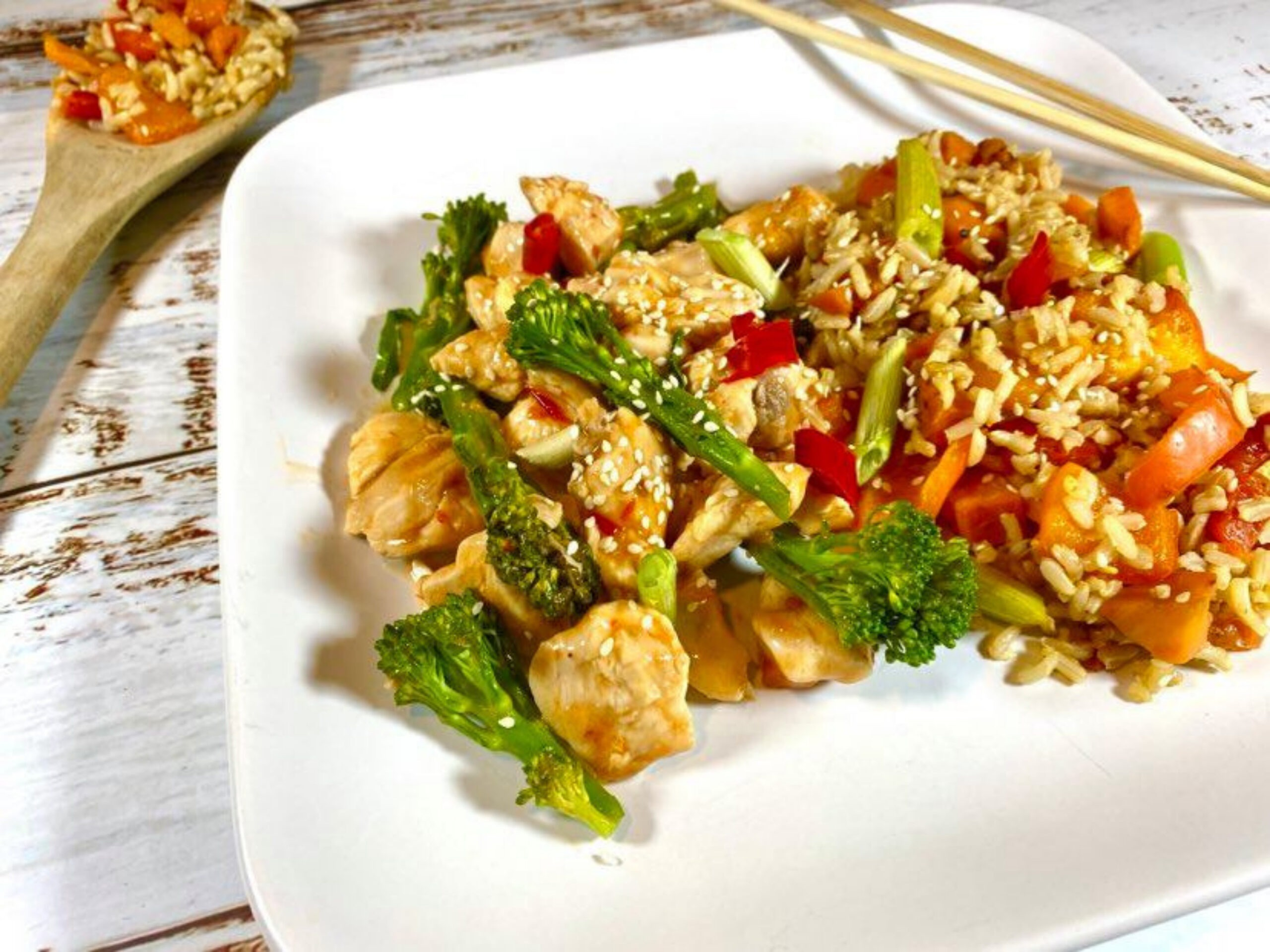 Sweet ginger chilli Chicken scaled